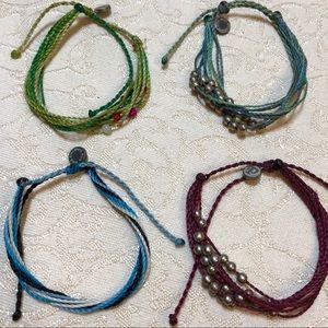 4 Pura Vida Handmade Rope Beaded Bracelets BUNDLE